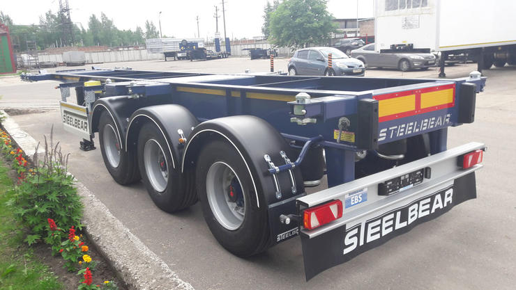 Уникальный полуприцеп контейнеровоз STEELBEAR для перевозки азота отправляется в Казахстан!