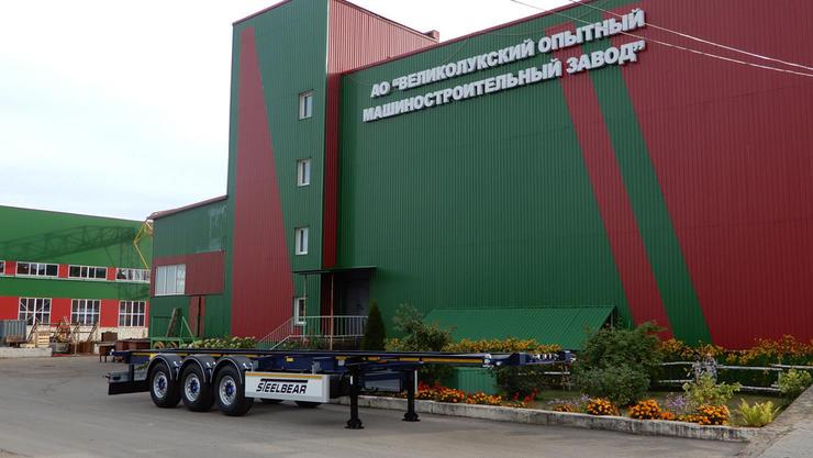 Новинка: полуприцеп-контейнеровоз STEELBEAR на осях JOST
